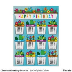 Shop Classroom Birthday Board in Our Garden Theme Poster created by CraftyWithCalani. Garden Theme Classroom, Kindergarten Classroom Decor, Classroom Board, Classroom Decor Themes, Seasonal Classrooms, Future Classroom, Classroom Ideas, Summer Bulletin Boards, Birthday Bulletin Boards