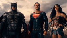 The DC Trinity: Ben Affleck as Batman, Henry Cavill as Superman, Gal Gadot as Wonder Woman Ben Affleck, Henry Cavill, Justice League 2017, First Superhero, Superhero Movies, Batman Vs Superman, Batman 2017, Superman Family, Ewan Mcgregor