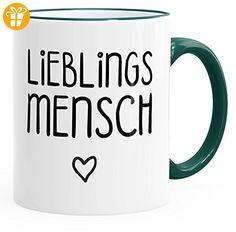 Kaffee-Tasse Lieblingsmensch Geschenk-Tasse Liebe Freundschaft Partner Freundin MoonWorks® grün unisize - Tassen mit Spruch   Lustige Kaffeebecher (*Partner-Link)