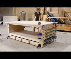 The Ultimate Plywood Workbench (plus Shop Storage Solutions) I built a quick but strong assembly table/workbench. I also threw in some really handy shop storage solutions.Don't miss the full build video above for more.
