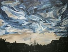 Main St Methven NW Sky Artworks, Sky, Abstract, Brown, Painting, Heaven, Summary, Art Pieces, Heavens