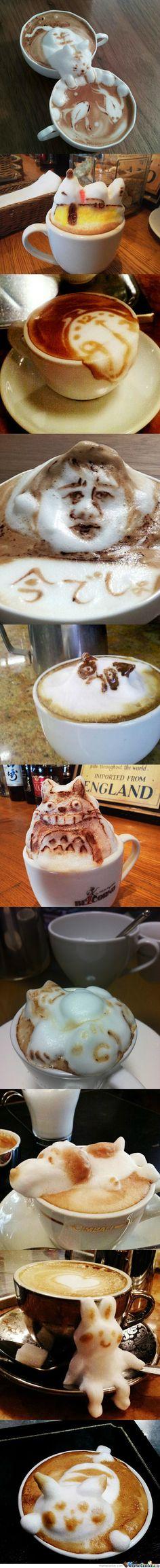 Amazing Latte Art Pictures