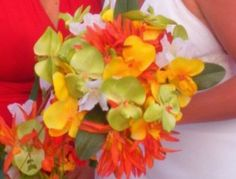 Flowers I made for my daughter-in-law for their wedding. She was married on the beach.