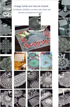 Amazon.com: Vintage Doilies to Crochet - A Collection of Doilies, Chair Sets, Runners, Placemats, Runners Crochet Patterns from the 1940's and 1950's eBook: Craftdrawer Craft Patterns, Bookdrawer: Books