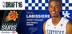 There we go!!! Skal Labissiere goes 28th overall to the Phoenix Suns. Prove 'em all wrong, Skal.