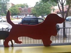 Dog silhouette cut outs diy.