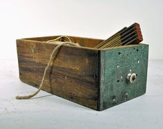 rustic wood drawer