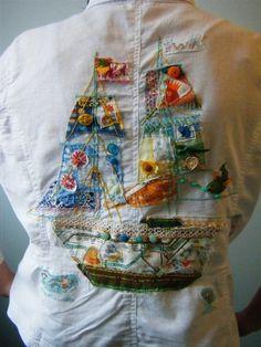 Buttons, fabrics and stitching