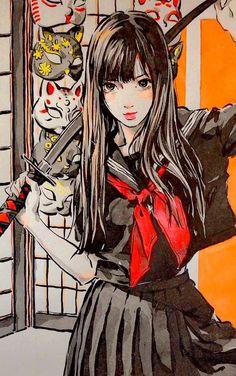 Anime Art Girl, Manga Art, Pretty Art, Cute Art, Aesthetic Art, Aesthetic Anime, Art Sketches, Art Drawings, Estilo Anime