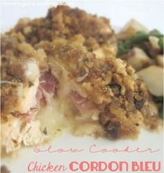 Sounds delicious, but I will use Monterey Jack cheese, not Swiss. The Recipe Critic: Slow Cooker Chicken Cordon Bleu. So easy to throw into the crockpot and it has amazing flavor! Slow Cooker Huhn, Crock Pot Slow Cooker, Slow Cooker Chicken, Slow Cooker Recipes, Crockpot Recipes, Cooking Recipes, Easy Recipes, Chicken Recipes, Popular Recipes