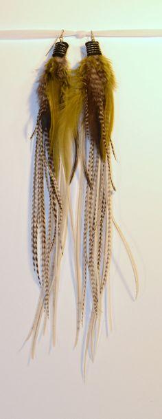 Long Feather Earrings by BelleAeva on Etsy, $38.00