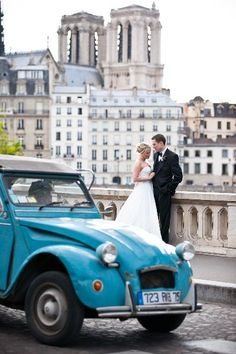 Iconic wedding car in Paris, Image by One and Only Paris Photography