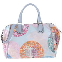 Galliano Handbag ($295) ❤ liked on Polyvore featuring bags, handbags, sky blue, genuine leather purse, leather handbags, leather hand bags, satchel purse and leather handbag purse