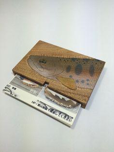 名刺入れ - 魚類剥製、フィシュカービング
