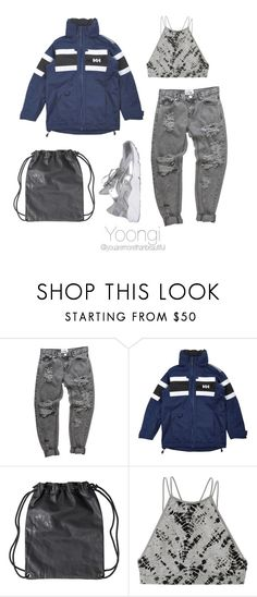 """""""Rainy Day / BTS"""" by youaremorethanbeautiful ❤ liked on Polyvore featuring Helly Hansen, Victoria's Secret and NIKE"""