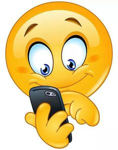 Emoticon with smart phone. Emoticon using mobile smart phone royalty free illustration
