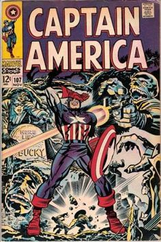 Jim Steranko Captain America | Captain America #107 via | buy on eBay | add