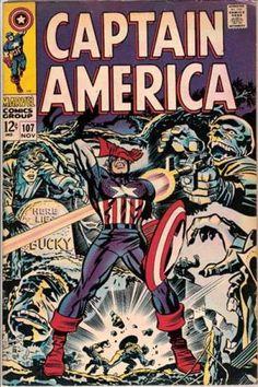 Jim Steranko Captain America | Captain America #107 via | buy on eBay | add