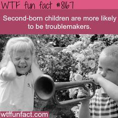 Second-born children - WTF fun fact