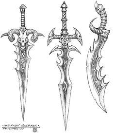 Best Weapon Concept Art World Of Warcraft Ideas – Art Drawing Tips Cool Art Drawings, Pencil Art Drawings, Art Drawings Sketches, Sword Drawings, Armes Concept, Lich King, Sword Tattoo, Death Knight, Sword Design
