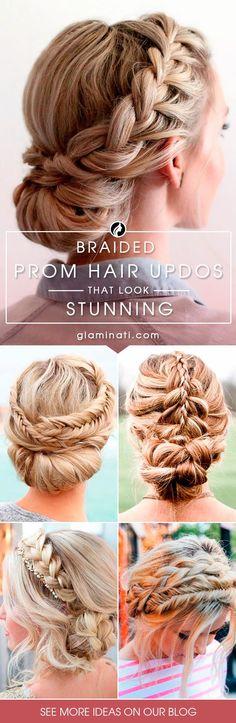 Braided prom hair up