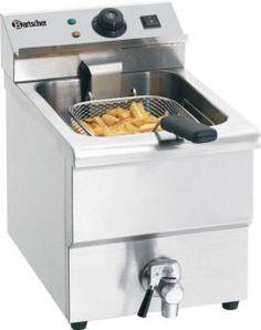 Friteuse professionnelle électrique 8 litres avec vanne de vidange