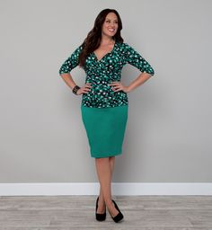Kiyonna Clothing: Priscilla Knit Pencil Skirt