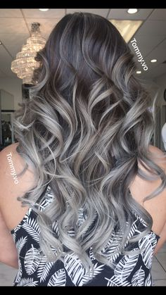 Silver Grey Blonde Hair, Try Cliphair's Silver Grey Hair in Double Weft to achieve this hairdo. Silver Grey Blonde Hair, Try Cliphair's Silver Grey Hair in Double Weft to achieve this hairdo. Grey Blonde Hair, Silver Grey Hair, Brunette Hair, Brown Hair, Balayage Hair Grey, Silver Blonde, Bayalage, Blonde Ombre, Ombre Hair Color
