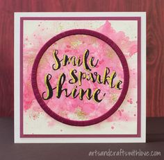 Sparkle and Shine | Visible Image - created by Elina Stromberg - sentiment stamps