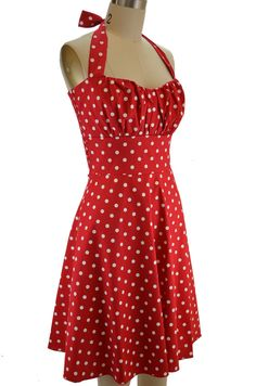 50's influence.  Think Katy Perry. betty sun dress - red polka dot. Perfect for a deployment homecoming!!!