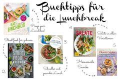 Buchtipps, Lieblingsbücher, Kochbücher, Lunchbreak, Mittagspause, Lunch, cookbooks, bookfavorites