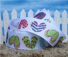 Ribbons and Buttons Ribbon Flip Flops, Happy Shoes, Florida Style, Glass Slipper, Ladies Dress Design, Flip Flop Sandals, Summer Time, Lemon Drops, Aloha Spirit