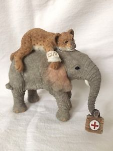 """Tuskers """"Tom & Leo"""" 1998 Country Artists Hand Painted Collectible Ornament  
