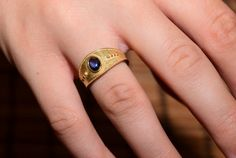 Solid Gold Ring 9k Ancient Byzantine Style by DanelianJewelry