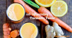 This slightly sweet, earthy tonic is a wonderful way to start your day: Anti-Inflammatory Turmeric Tonic. And the best part is that you don't need a juicer to make it!