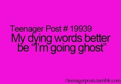 Haha totally doing this