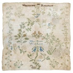 Early 19th c. Sampler by Mary Farmer 1811 ~ Wood-Lawn, Lancaster, PA