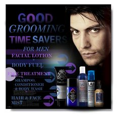 """""""GOOD GROOMING TIMER SAVERS FOR MEN"""" by angelflair ❤ liked on Polyvore featuring men's fashion and menswear"""