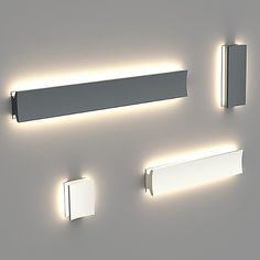 Lineacurve Dual LED Wall/Ceiling Light by Artemide - Color: Grey - Finish: Anthracite - - Design by Ron Rezek Cove Lighting, Indirect Lighting, Accent Lighting, Modern Lighting, Lighting Design, Contemporary Bathroom Lighting, Linear Lighting, Interior Lighting, Track Lighting