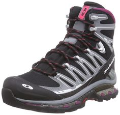 hugely rec'm'ded.........Salomon Cosmic 4D 2 GTX, Women's High Rise Hiking Shoes, Black (Black/Pearl Grey/Carmine), 5 UK (38 EU): Amazon.co.uk: Shoes & Bags