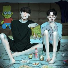 Jaebum and Jinyoung Got7 Fanart, Kpop Fanart, Boy Illustration, I Got 7, Mark Jackson, Anime Life, Jinyoung, Amazing Art, Chibi