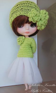 Blythe total look outfit with pull helmet  by juliettaexussetta, €20.00