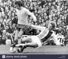January Spurs defender Mike England is challenged for the ball by Crystal Palace defender Bobby Bell during a goalless draw at Selhurst Park. Der Club, Class Games, England, Crystal Palace, Working Class, Tottenham Hotspur, Golden Age, Premier League, Bobby