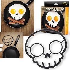 1 pcs Skull Shape Silicone Egg Mold Cooking Tools Silicone  Skull Eggs Mold Fried  Styling Tools Kitchen Gadgets Bluesky