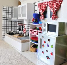 DIY Cardboard Play Kitchen!