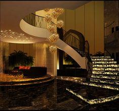 * خليجية *: Beautiful Home Interior from the Emirates - entrance and staircase