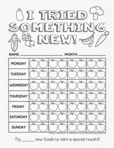 Helping Kids Grow Up: Printable Healthy Eating Chart & Coloring Pages