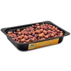 IT   OLIVE NERE GRECHE CONDITE: il condimento è molto semplice: olio e peperoncino. la semplicità della ricetta e la sua forza.  EN   GRECIAN RECIPE: HUGE NATURAL OLIVES AND SPICES: this simple recipe is prepared with whole amphissa olives and chili peppers.  http://www.ficacci.com/scheda.asp?id=40&idgamma=11&categ=prodotti