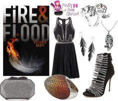 Fire & Flood - http://myfashionobsessedlookbook.blogspot.com/2013/11/book-looks-14-fire-flood-by-victoria.html