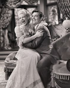 Lana Turner and Clark Gable.
